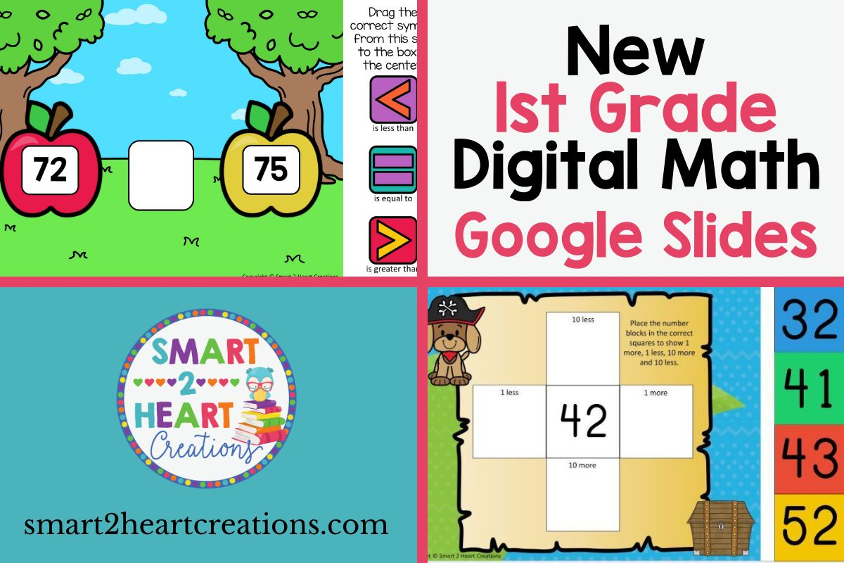 1st Grade Digital Math Slides