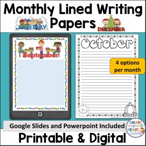 Monthly Lined Writing Paper Cover